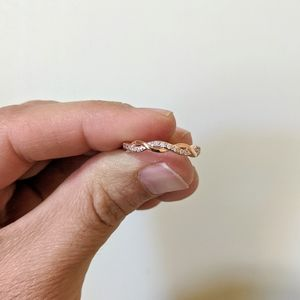 Jewelry - Rose Gold & Crystal Braided Band